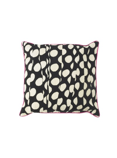 Подушка Folded Polka Dot Black