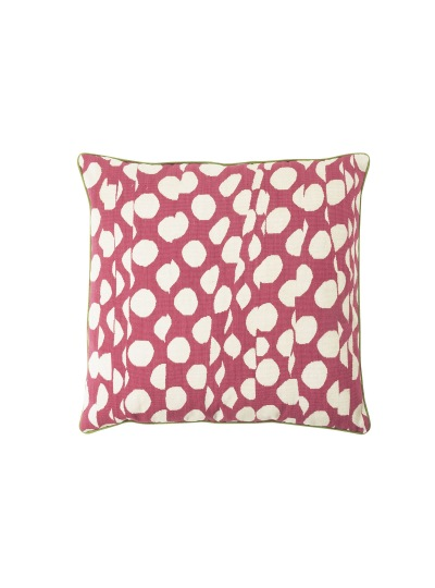 Подушка Folded Polka Dot Pink