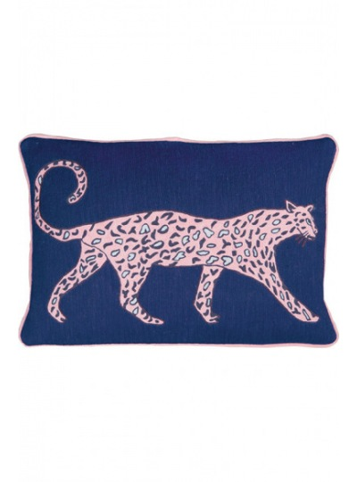 Подушка Leopard Cobalt Cushion